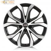 Alutec W10 8,5x19 5/112 ET45 d-66,5 Racing Black Front Polished (W10-85945B63-5) For OEM Cap